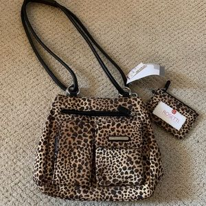 New Rossetti Cheetah Print Bag w/Accessories